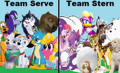 Team Serve vs Team Stern by arvinsharifzadeh