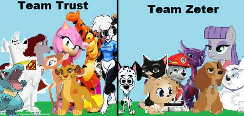 Team Trust vs Team Zeter by arvinsharifzadeh