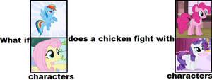 RainbowDashFluttershy PinkiePieRarity chickenfight