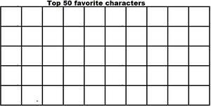 Top 50 favorite characters