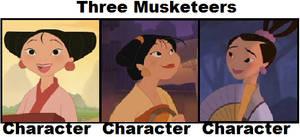 Mei, Su, Ting Ting Musketeers