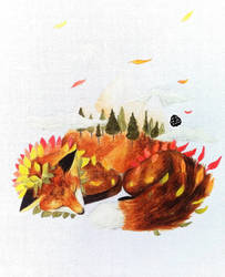 [Commission] Seasons -- Autumn concept by Aohakath