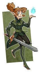 Knight-Enchanter Lavellan by CopperKidd