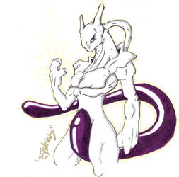 Mewtwo by AVN88