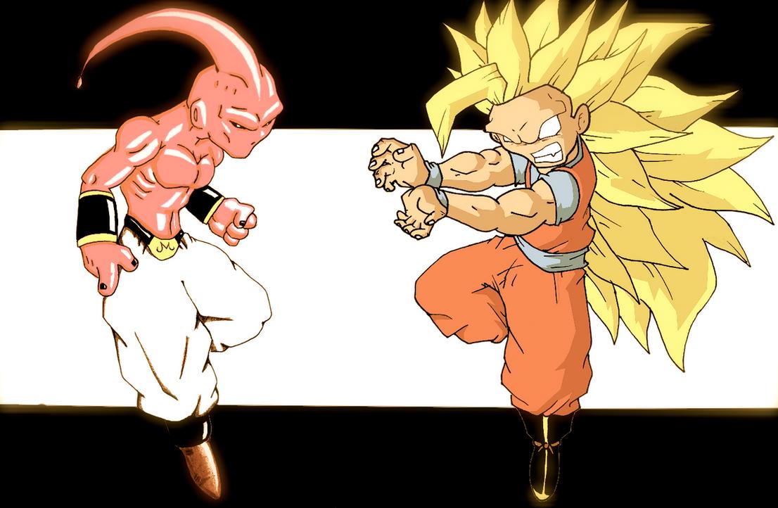 Kid Buu Vs Goku by AVN88 on DeviantArt
