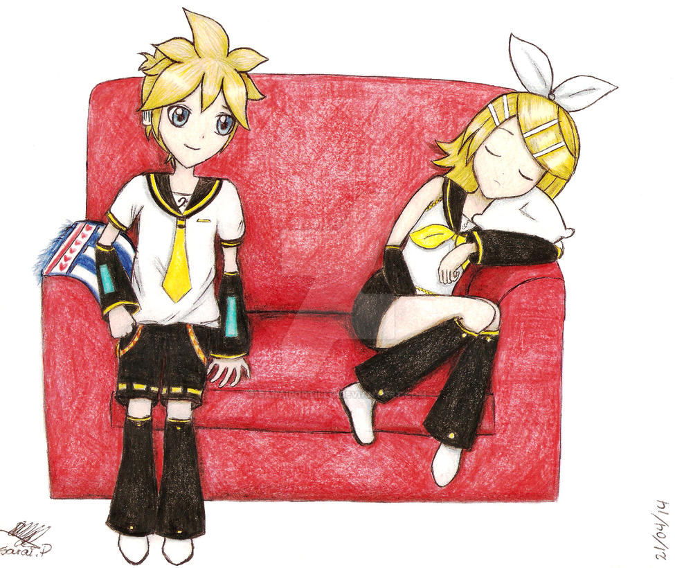 Rin y Len by saraiportillo