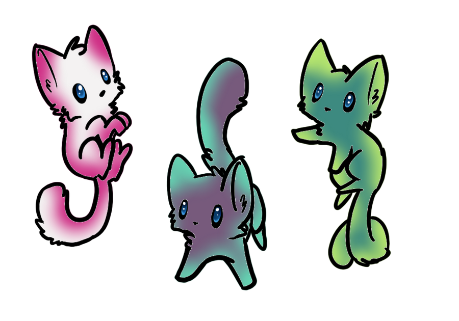 Kitten Adoptables! by DawnDancer11