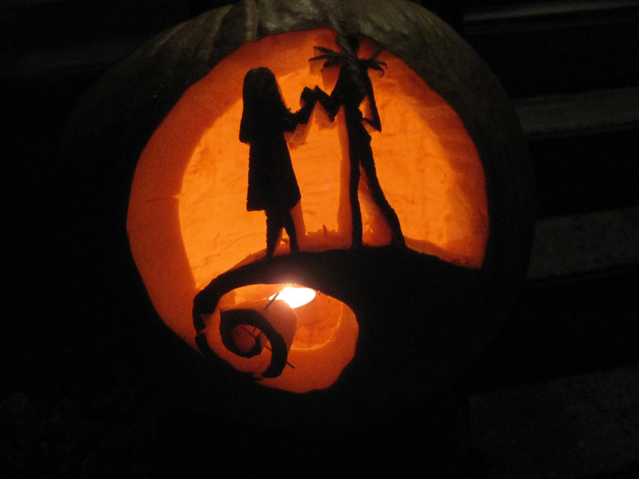White Jack And Sally Pumpkin Carving Patterns Articleblog Info