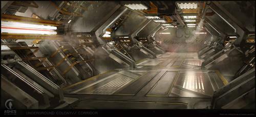 Underground Base- Corridor by XavierWard