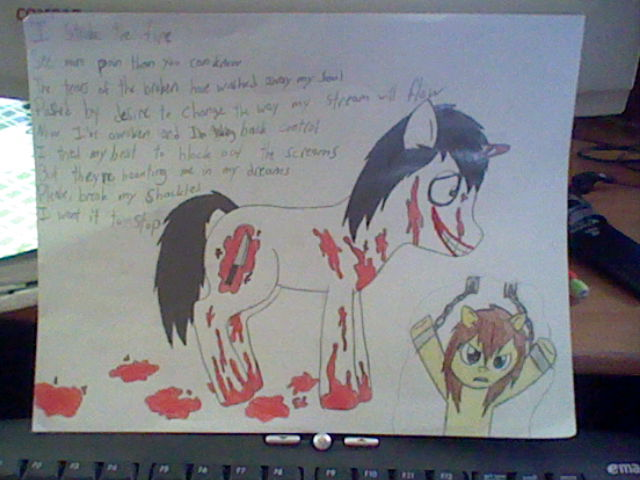 Jeff The Killer (MLP: FiM) - Awoken by Im-Albert-Wesker