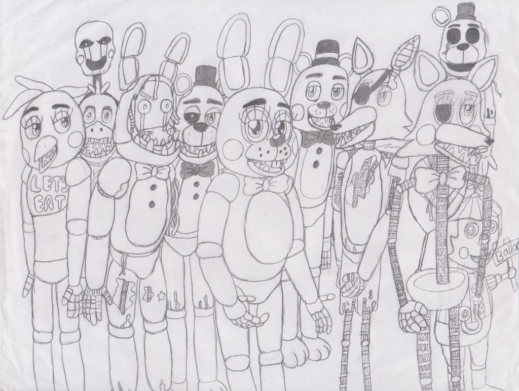 Fnaf 2 all animatronics and puppets by im albert wesker on deviantart