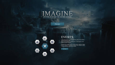 Imagine Dark MMO Splash Page