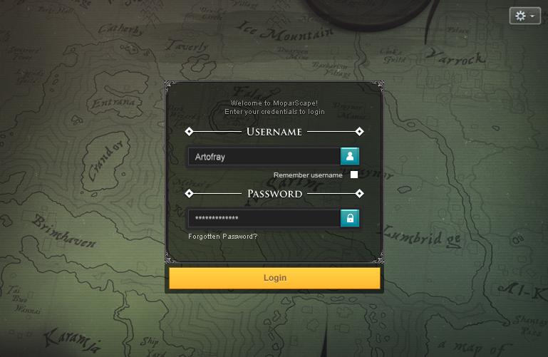 MoparScape Login User Interface