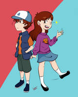 Dipper and Mabel Pines by LimaLimonade