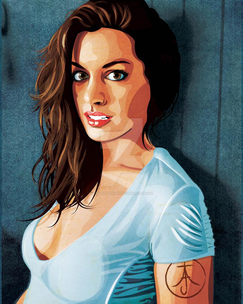 Anne Hathaway Drawing: Anne Hathaway Portrait By OllieJDesign On DeviantArt