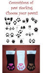 Commisions of Animal Paw stocking choose your own