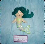 Felt mermaid brooch