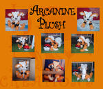 Arcanine medium size plush