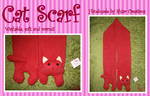 Red Cat Scarf SOLD