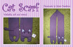 Purple Cat Scarf SOLD