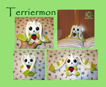 Terriermon Ban Dai Style Plush OOAK - FOR SALE