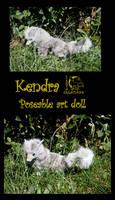 Kendra - Poseable art doll