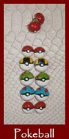 FOR SALE Pokeball earrings