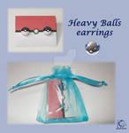 Pokeball earrings heavyball commission