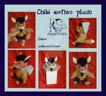 Chibi anthro plush OC commission