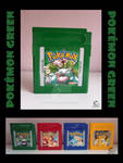 Commissions OPEN! Pokemon Green Cartridge