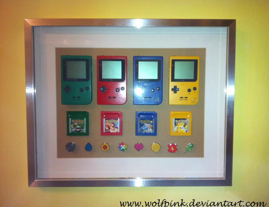 game boy and pokemon frame by ishtar creations