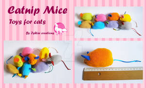 Catnip Mice (Toy for cats!)