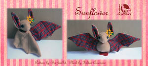 Sunflower Tartan Bat Plush
