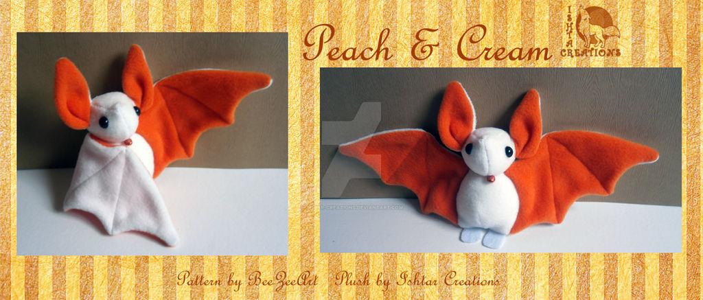 Cream and Peach bat