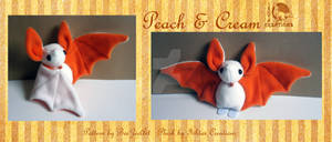 Cream and Peach bat