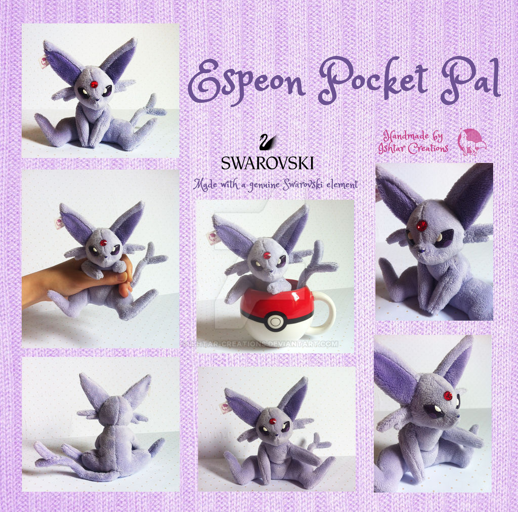 Espeon Pocket Pal Plush