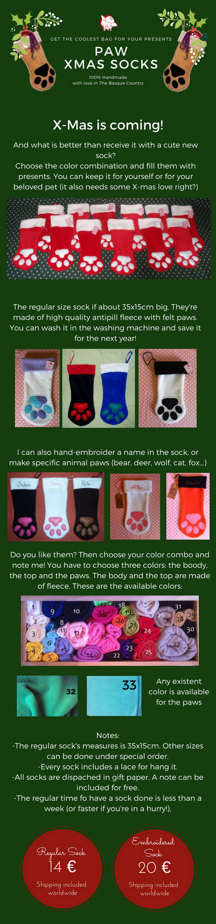 Christmas Socking Paws COMMISSIONS OPEN