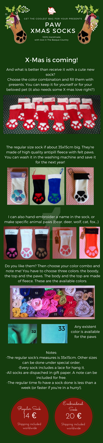 Christmas Socking Paws COMMISSIONS OPEN by Ishtar-Creations