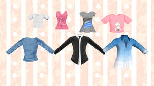 [MMD] - Shirts Pack Female and Male -[DL]