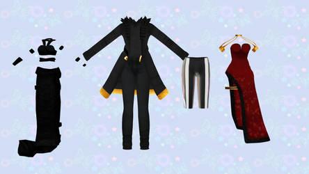 [MMD] - Random Outfit Pack  - [DL] by TMoonlightA