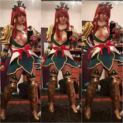 Erza Scarlet - Nakagami Armor Cosplay WIP by YuukoScarlet