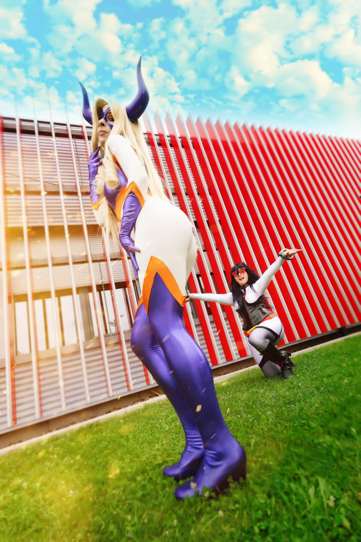Mt Lady and Midnight Cosplays - My Hero Academia by YuukoScarlet