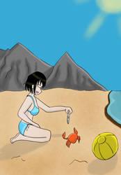 Runie on the beach