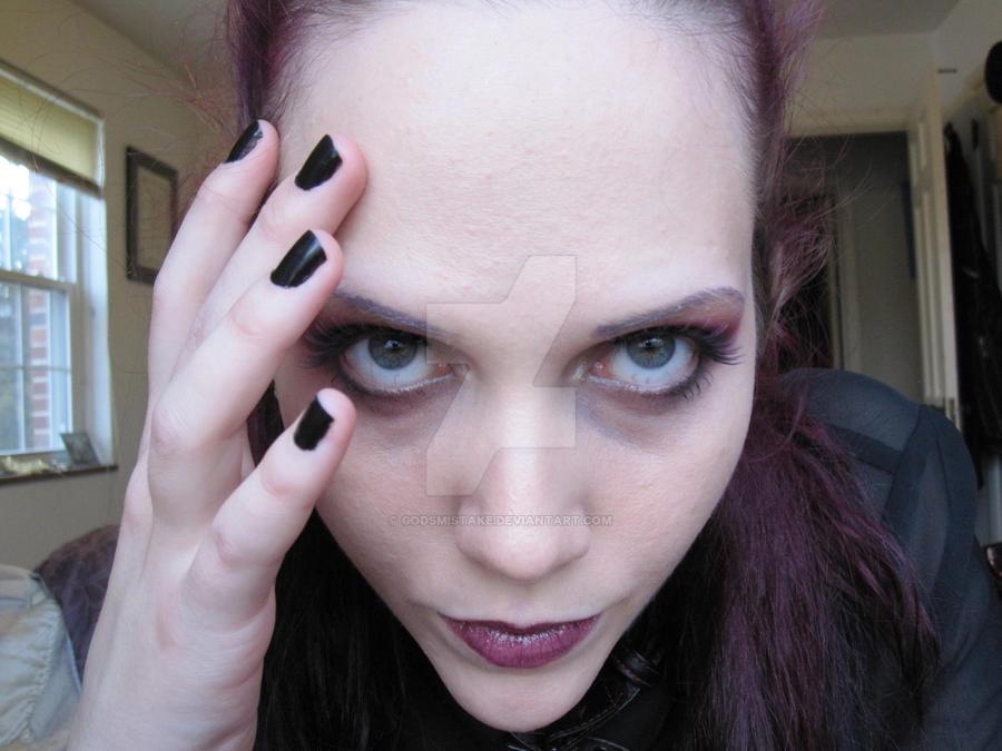 Purple Makeup. Purple Hair. 3. By Godsmistake On DeviantArt