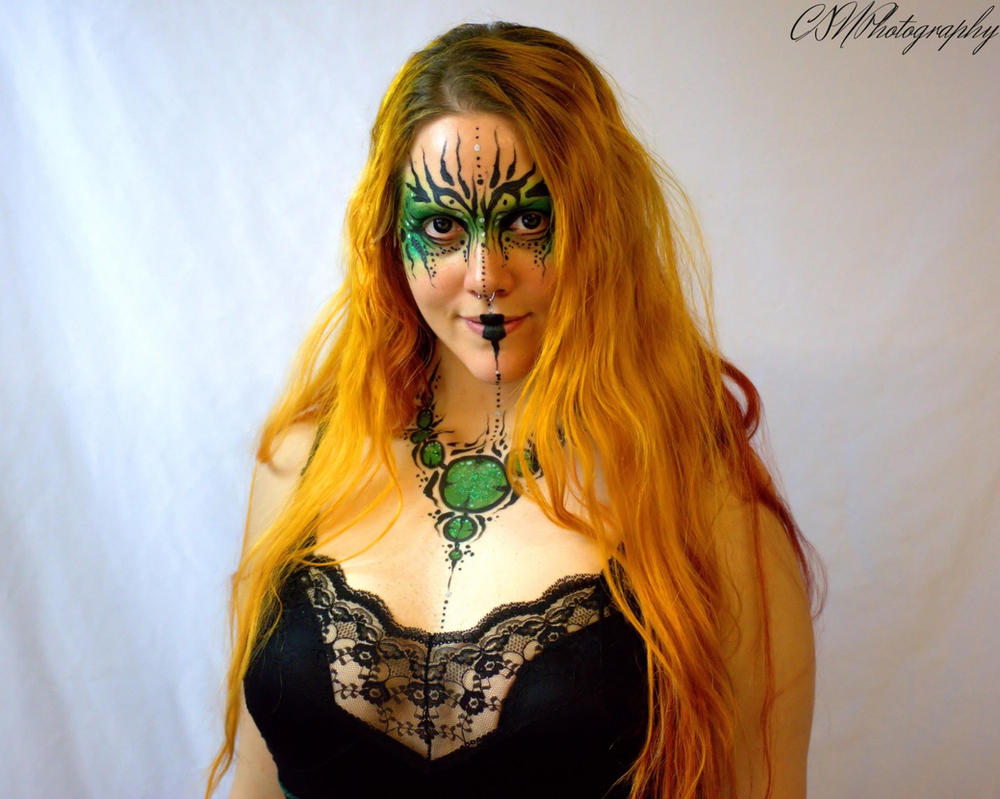 Druid High Priestess Makeup by godsmistake