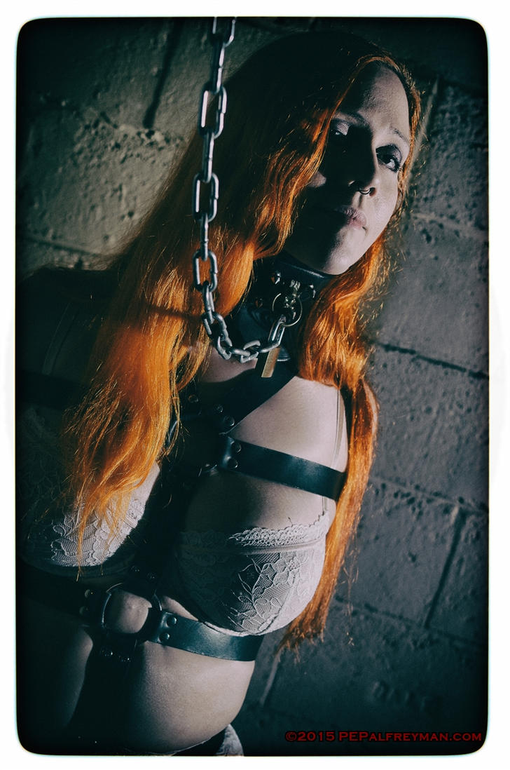 Sally in pale lingerie and bondage by godsmistake