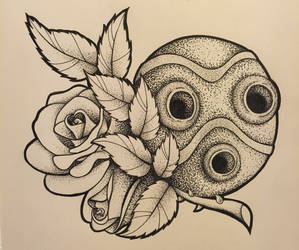 Dotwork Mask by LauraNeocleous