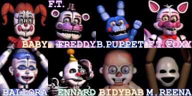 Fnafb Sister Location Faceset by Bonnie-From-Fnafb