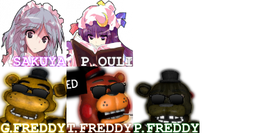 Touhou + Yes Quest Refurb Facesets by Bonnie-From-Fnafb