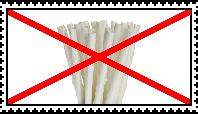 Anti Paper Straws Stamp